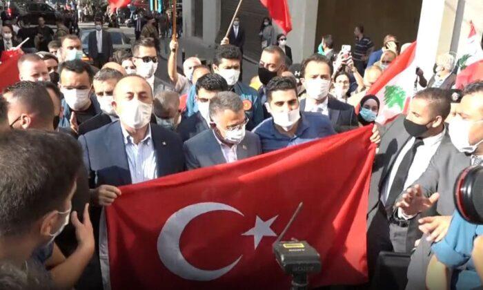 Macron'u protesto eden Lübnan halkından Türk heyete coşkulu ...